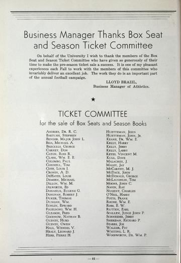 University of Detroit Football Collection: University of Detroit vs. Central State Teachers Program